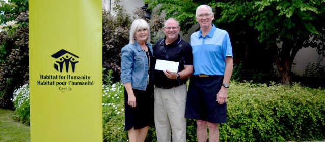 2017 Cowan Charity Classic Cheque presentation to Habitat for Humanity